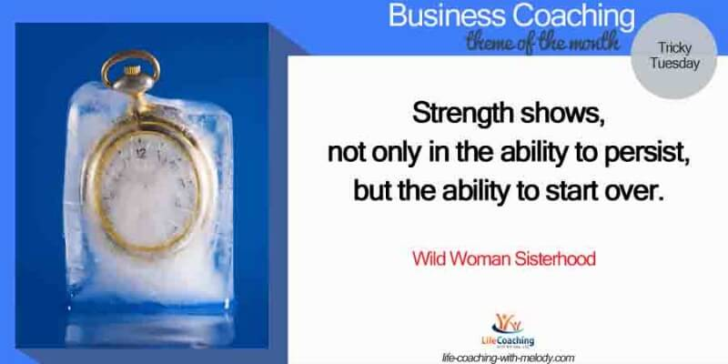 Business: Strength in starting over