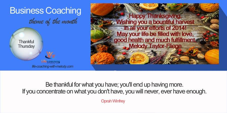 Business Thanks Giving
