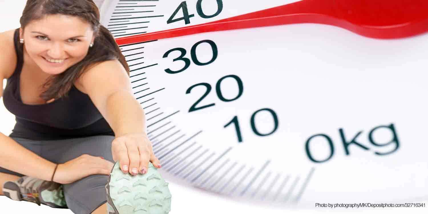 Exercising girl & weight scale background_Longevity_NewYearResolutions