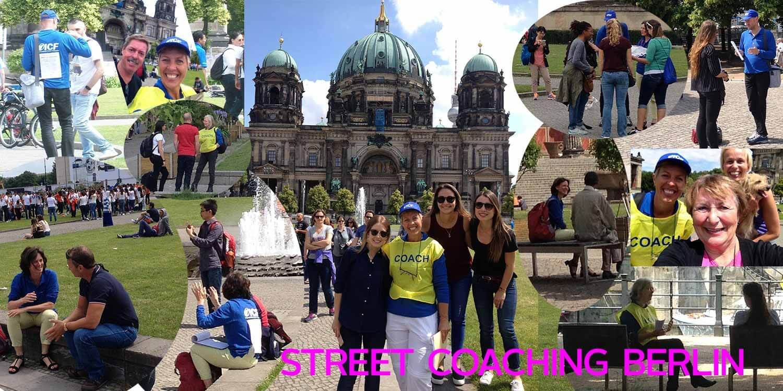 Multi-images of Street Coaching Am Lustgarten Berlin Germany