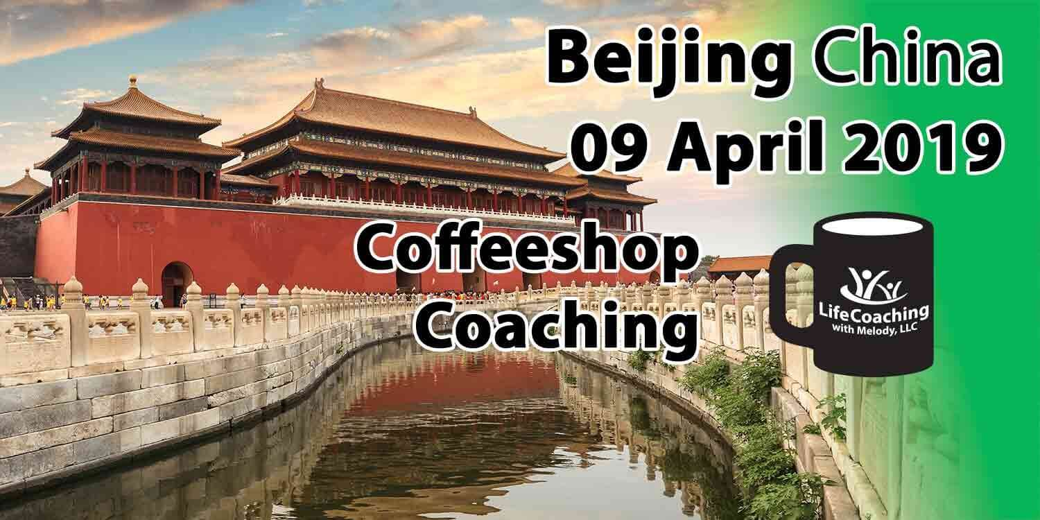 Image of Forbidden City by the river with Words Coffeeshop Coaching Beijing China 09 April 2019