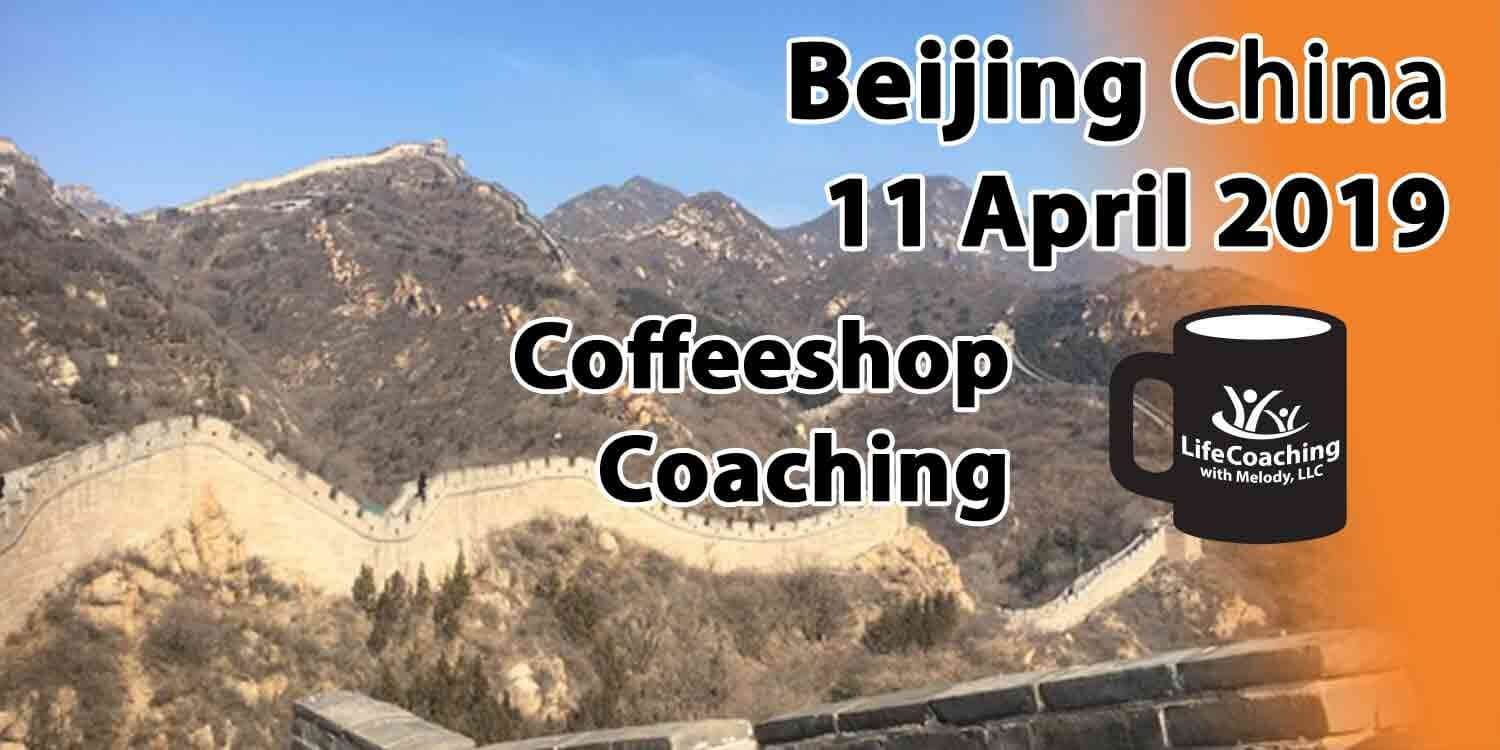 Image Great Wall of China with words Coffeeshop Coaching Beijing China 11 April 2019