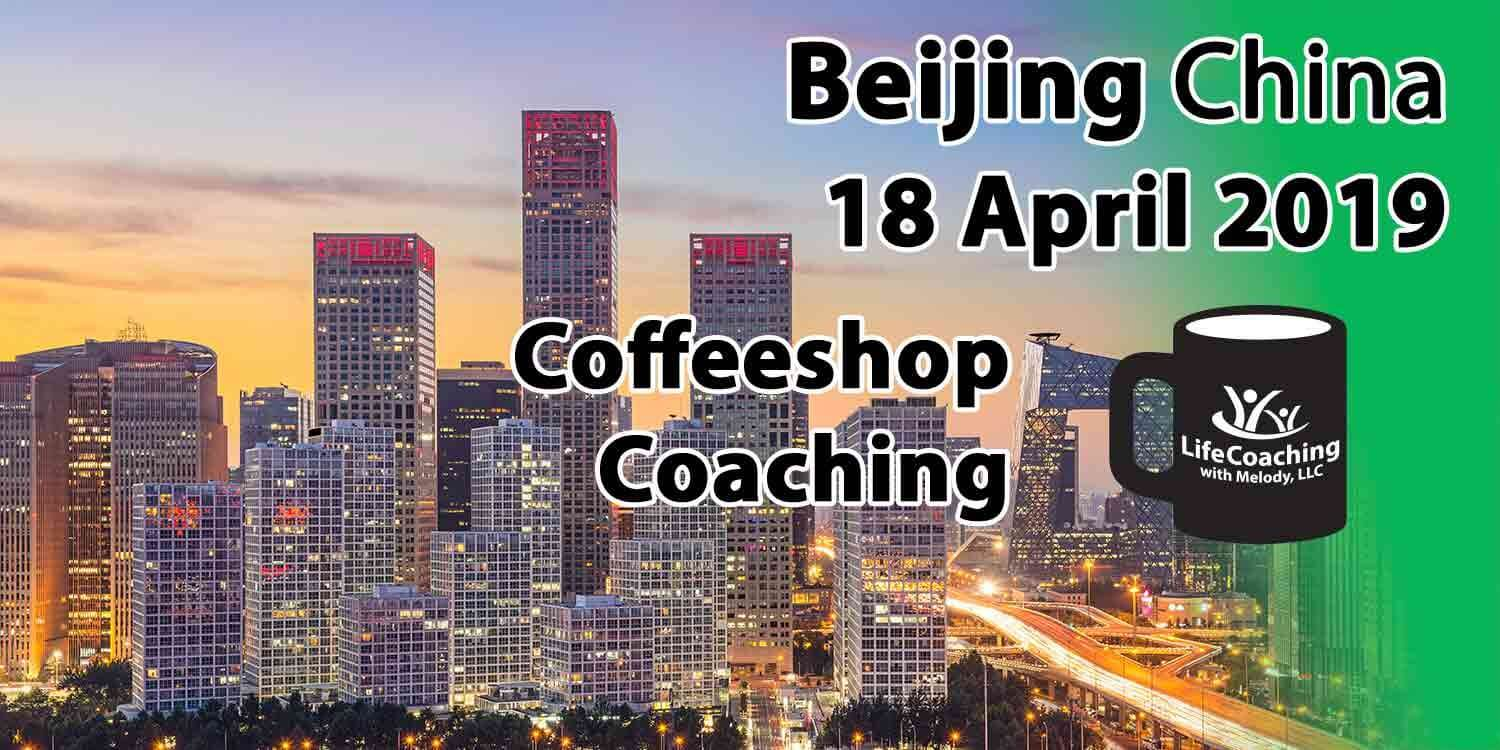 Image Beijing Financial District at dusk or dawn with words Coffeeshop Coaching Beijing 18 April 2019