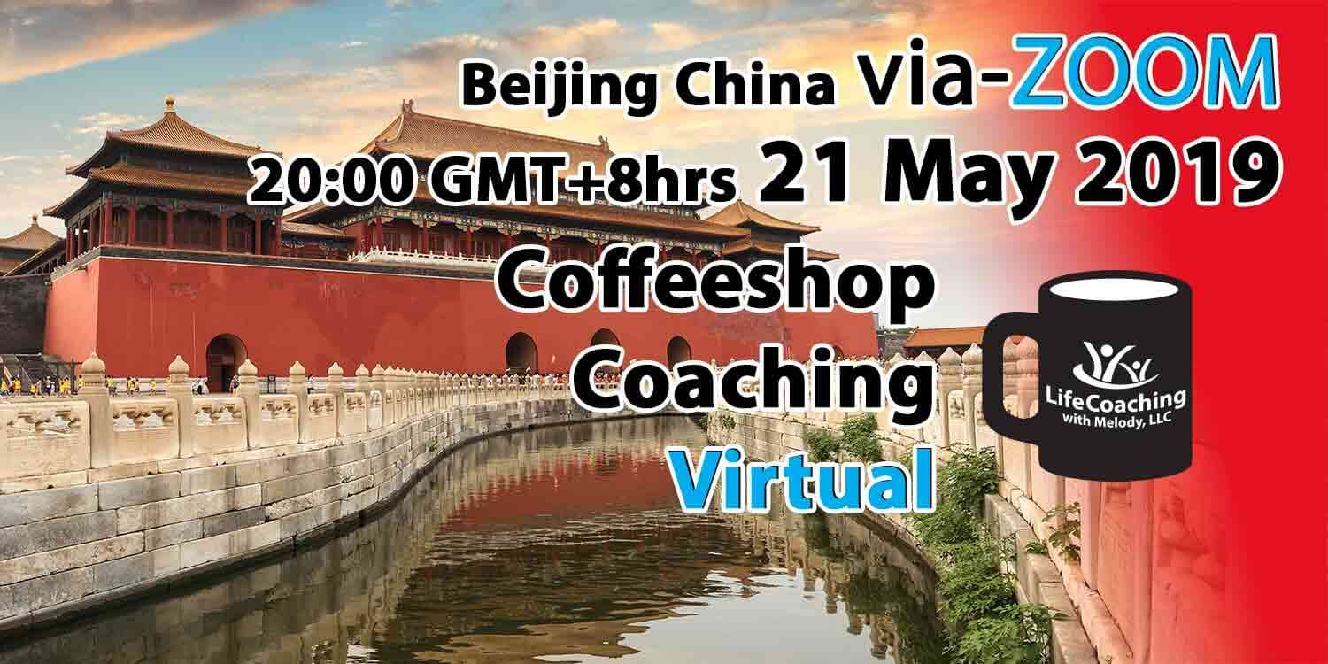 Image The Forbidden City in Beijing with words Virtual Coffeeshop Coaching 21 May 2019