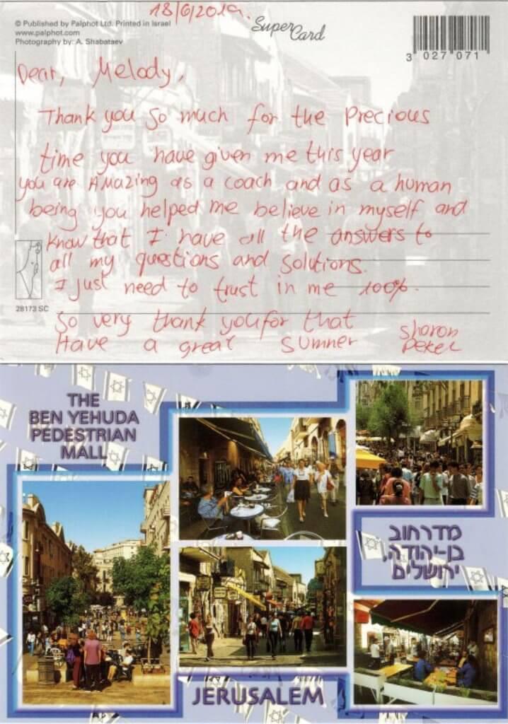 Testimonial from Sharon Dekel