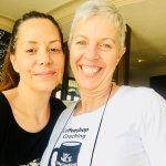 Image of Sharon Dekel and Coffeeshop Coach Melody Taylor-Fliege