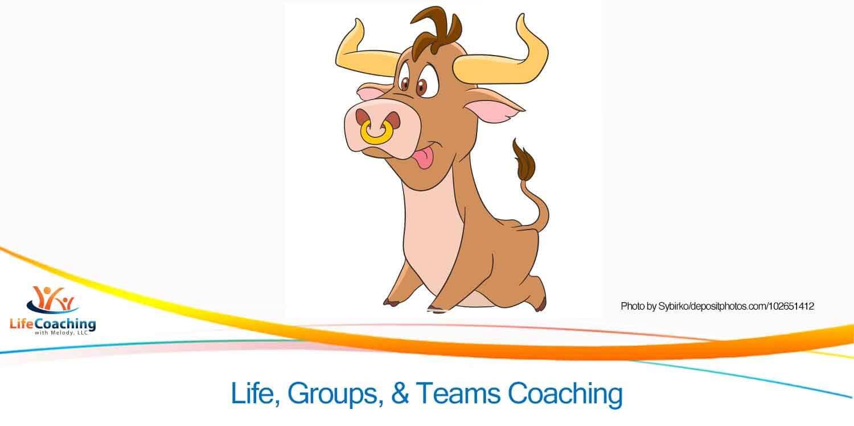 Cute cartoon bull representing 2021 Chinese New Year of The Ox